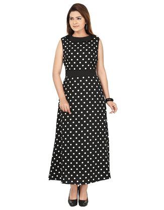 Picture of AK FASHION Black & White Printed Maxi Dress