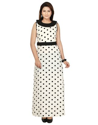 Picture of AK FASHION Black & White Printed Maxi Dress