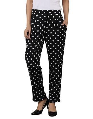 Picture of AK FASHION Black & White Trouser